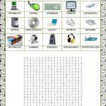 Wordsearch   Computer Parts Worksheet   Free Esl Printable   Parts Of A Computer Worksheet Printable