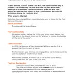 Worksheet #5 Who`s To Blame?   Cold War Printable Worksheets
