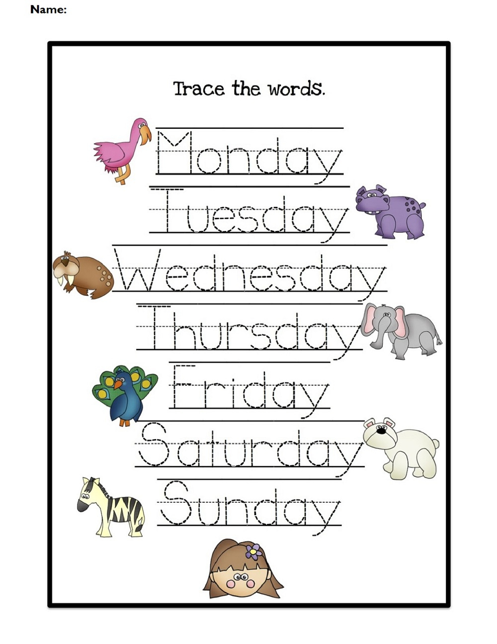 Worksheet For Days Of The Week For Kids | Kiddo Shelter | Free Printable Kindergarten Days Of The Week Worksheets