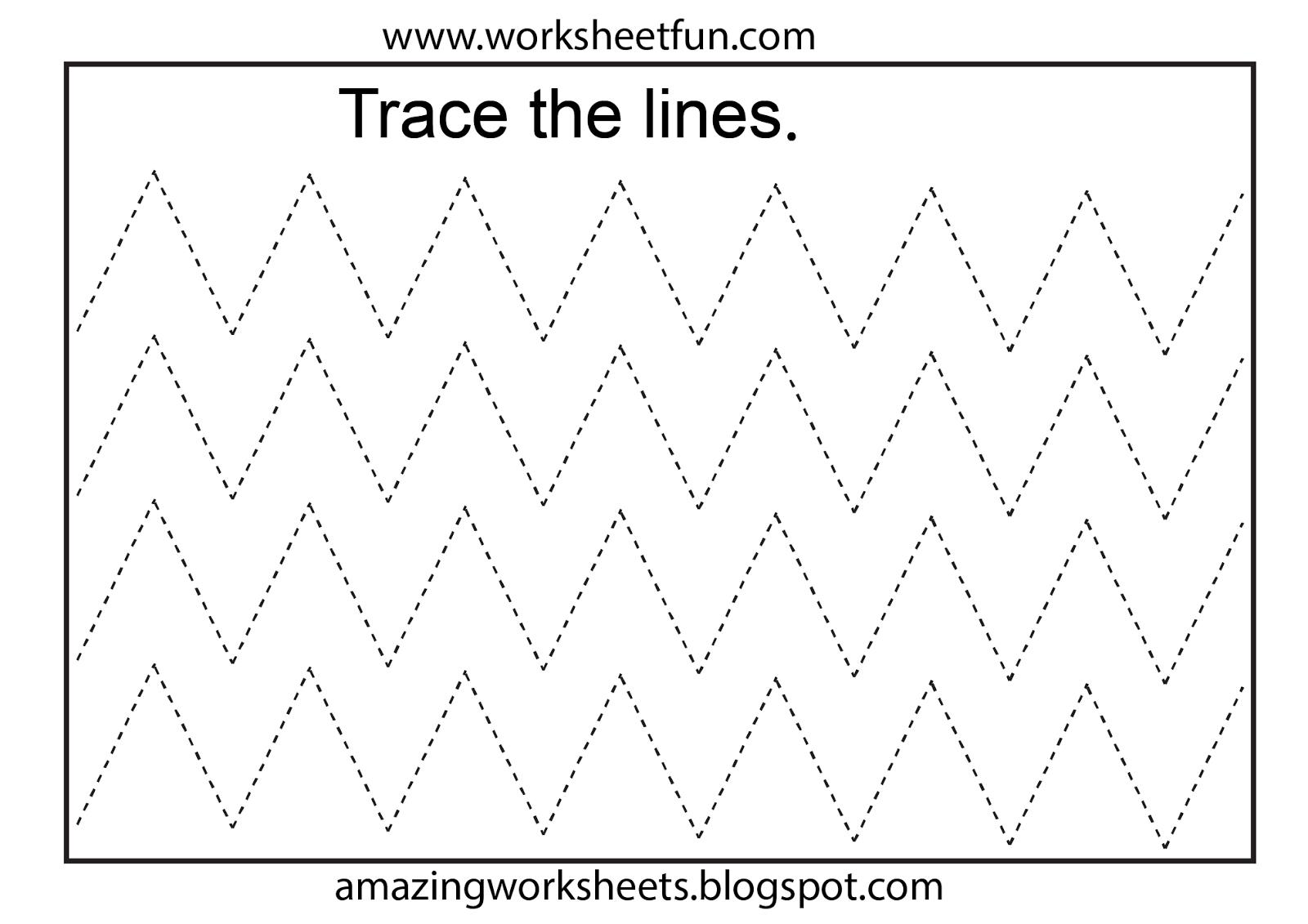 Worksheetfun - Free Printable Worksheets | Toddler Worksheets - Free | Free Printable Preschool Worksheets Tracing Lines