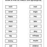 Worksheetfun Free Printable Worksheets | Word Work | Synonym | Free Printable English Worksheets For 1St Grade