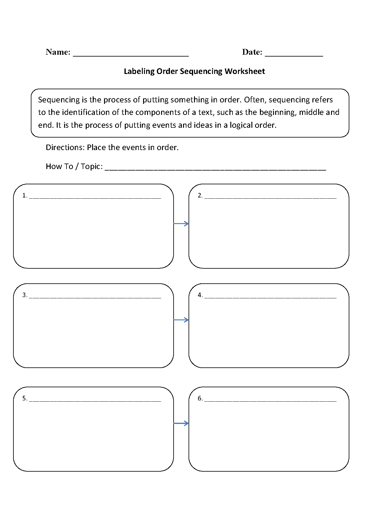 Writing Worksheets | Sequencing Worksheets - Free Printable | Free Printable Sequencing Worksheets 2Nd Grade