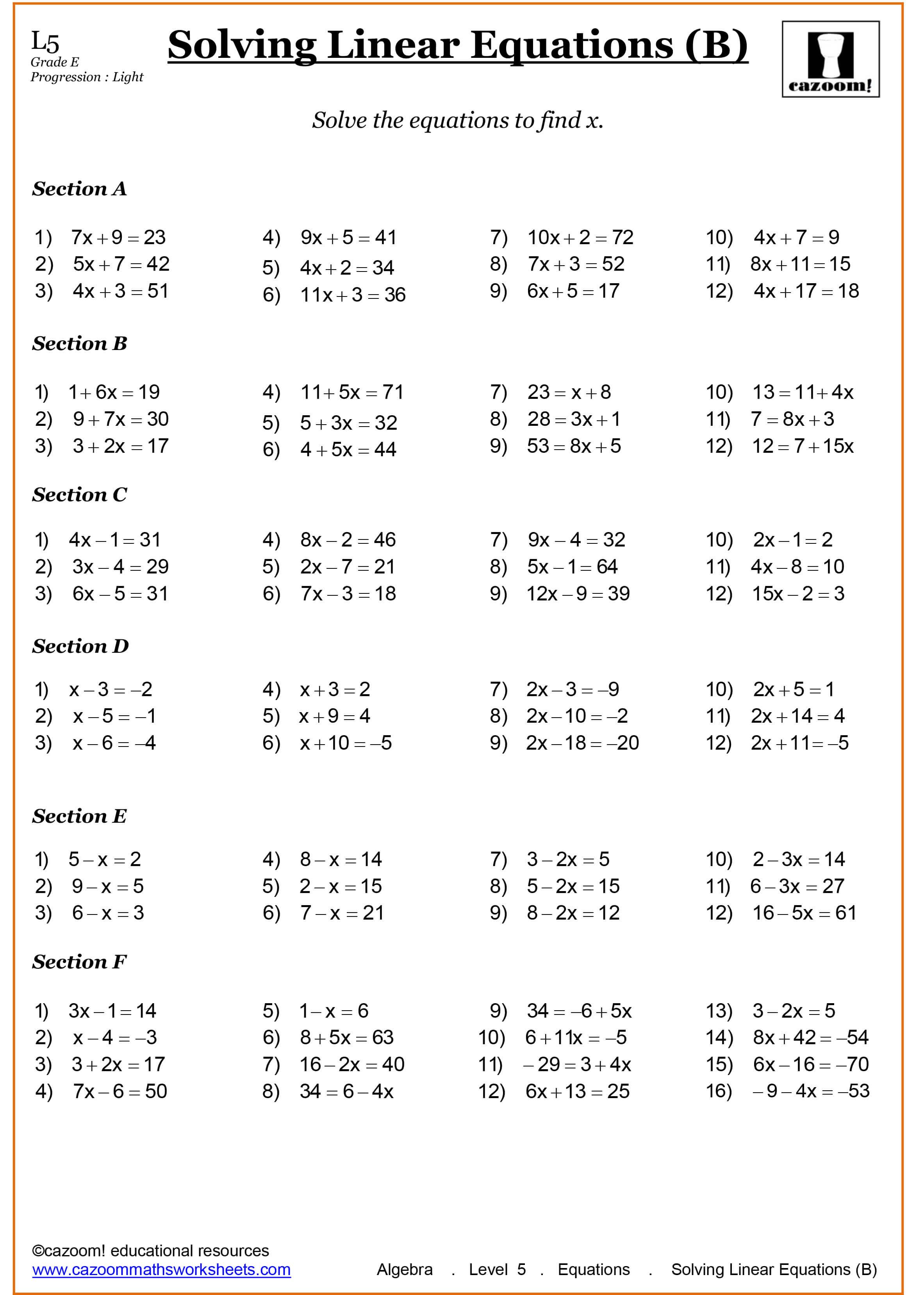 Year 7 Maths Worksheets | Cazoom Maths Worksheets | Year 9 English Worksheets Printable