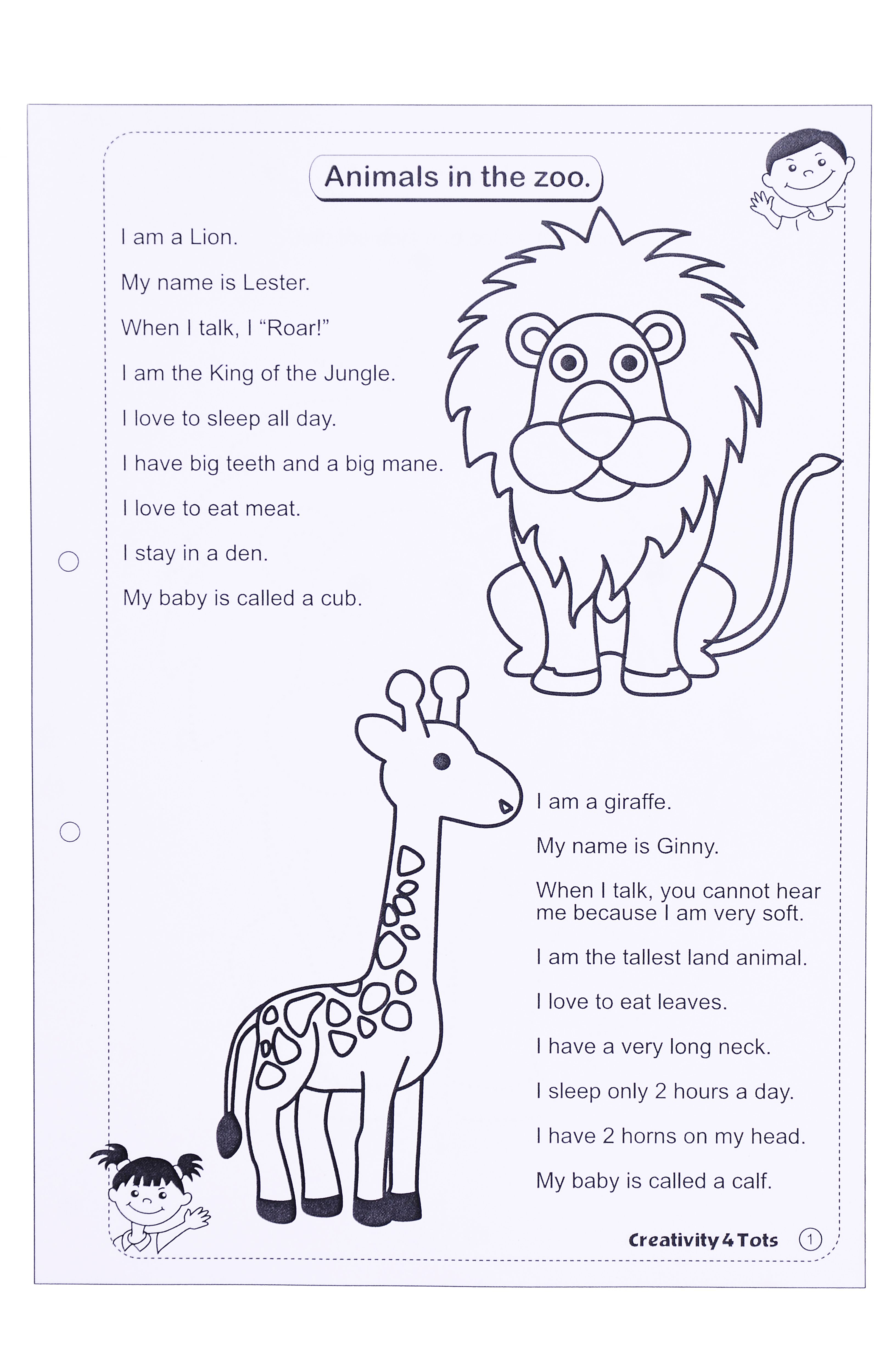 Zoo Animals Worksheet - This Worksheet Is Designed To Teach The | Free Printable Zoo Worksheets